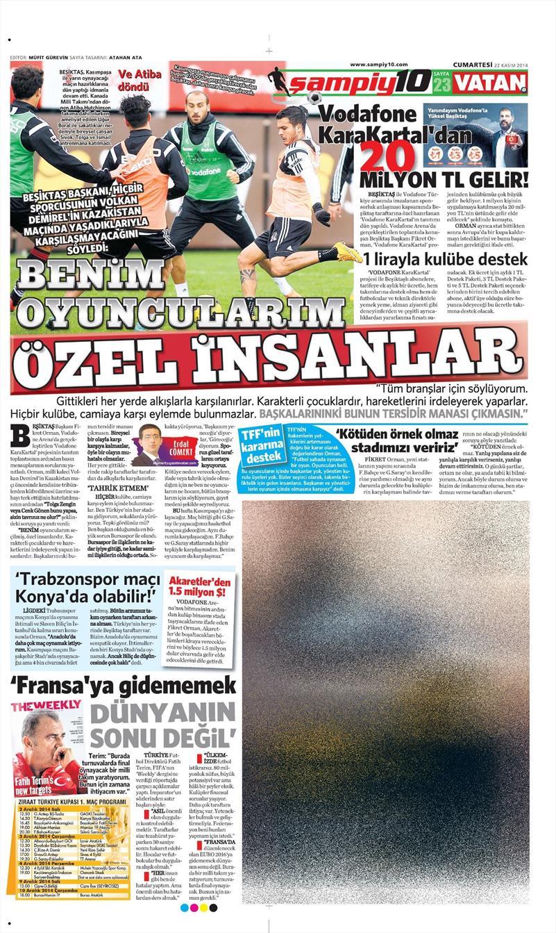 İşte 22 Kasım tarihli gazete manşetleri...