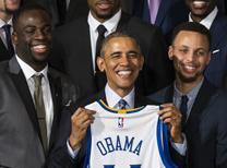 Obama, Golden State Warriors'ı kabul etti