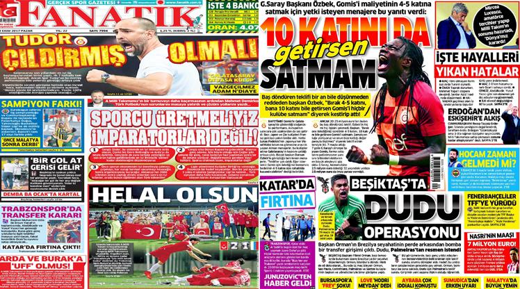 8 Ekim 2017 gazete manşetleri