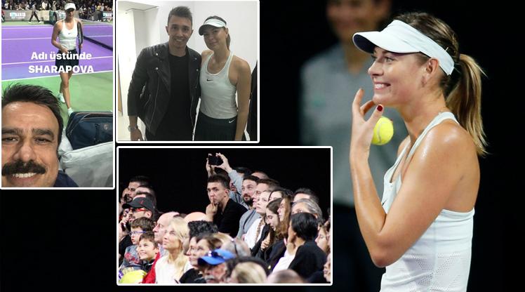 Sharapova İstanbul'u salladı!