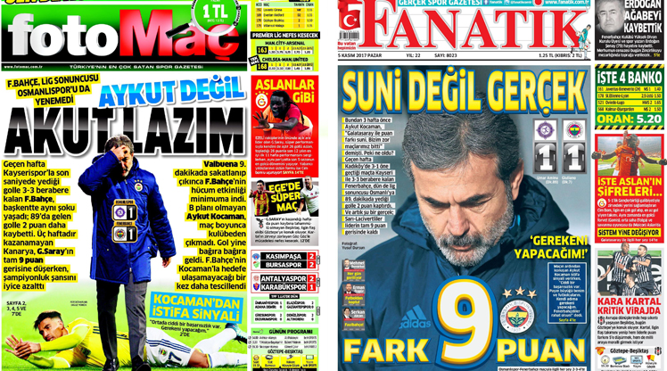 5 Kasım gazete manşetleri