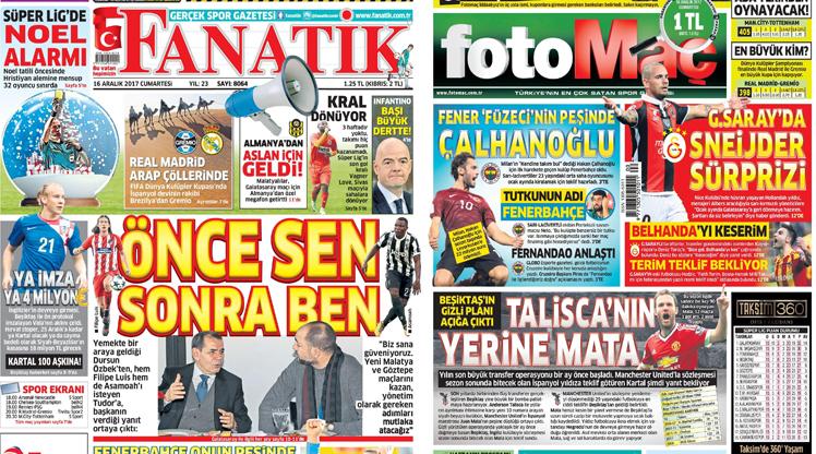 16 Aralık gazete manşetleri