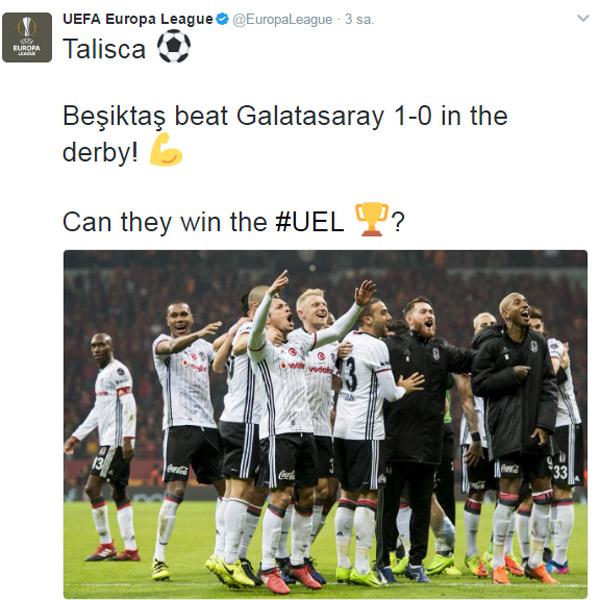 Beşiktaş sosyal medya hesabından Galatasay galibiyeti sonrası çarpıcı paylaşımlar yapıldı.