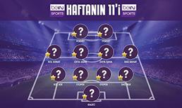 Süper Lig'de haftanın 11'ini beINSPORTS.com kullanıcıları belirledi.