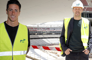 Atletico Madrid Teknik Direktörü Diego Simeone ve futbolculari başkent ekibinin yeni stadı Wanda Metropolitano'yu gezdi.