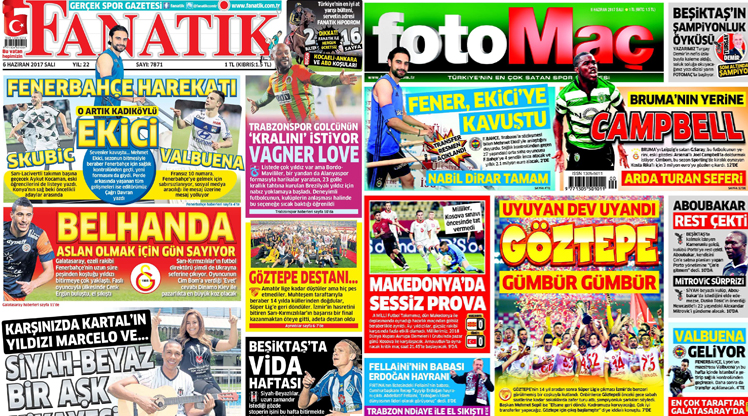 6 Haziran gazete manşetleri