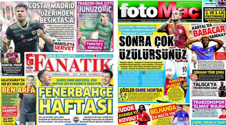 10 Temmuz gazete manşetleri