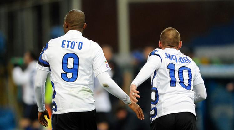 Eto'o ve Sneijder bu 11'de buluştu!