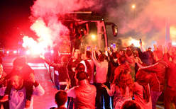 Beşiktaş'a taraftarından destek