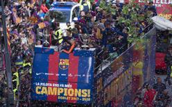 Şampiyon Barcelona'dan şehir turu