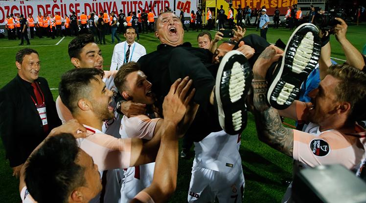 Galatasaray'da şampiyonluk coşkusu