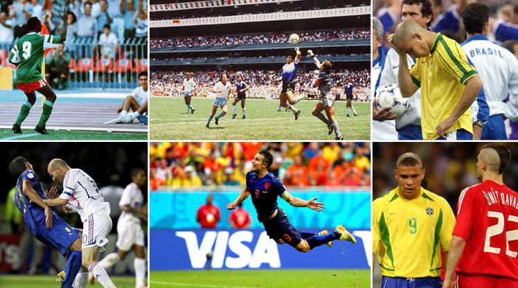 Dünya Kupası'na damga vuran o anlar...