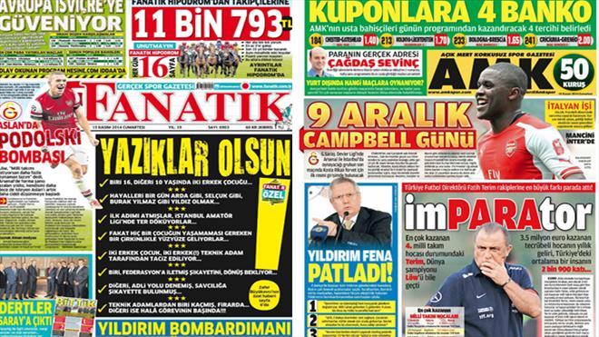 Manşetlerde gündem yoğun