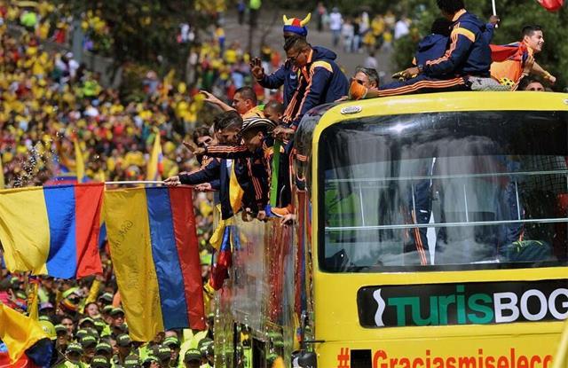 Kolombiya'ya muhteşem karşılama