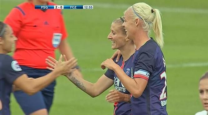 PSG'li kadın golcü şov yaptı! Zlatan'a taş çıkartır