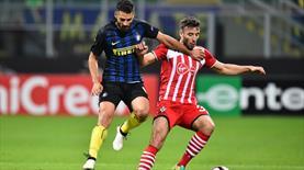 Inter 10 kişiyle siftah yaptı!