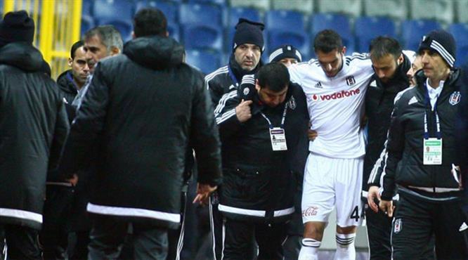 Beşiktaş'ta Rhodolfo sakatlandı