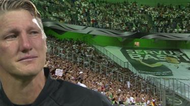 Schweinsteiger gözyaşlarıyla veda etti...