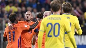 Sneijder attı Hollanda puanı kaptı