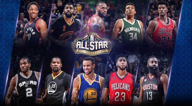 NBA All-Star'da ilk 5'ler belli oldu
