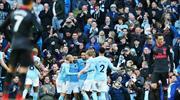 Manchester City'nin uçuşu sürüyor (ÖZET)