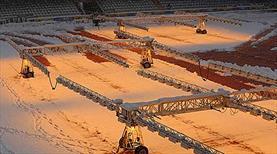 Çaykur Didi Stadı'na kar bakımı