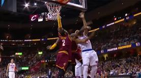Derrick Rose hayatının hatasını yaptı! LeBron'dan tokat gibi blok!