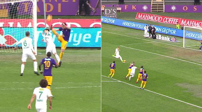 İşte penaltı anı ve gol...