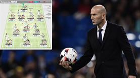 İşte Zidane'ın rüya takımı!