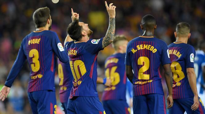 Messi'den resital Barça'dan gol şov (ÖZET)
