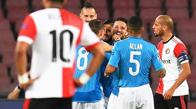 Napoli golcüleriyle güldü