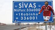 Robinho Sivas'ın tabelasını değiştirdi