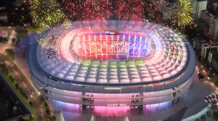 Barça yeni Camp Nou'yu tanıttı!