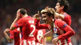 Tarihi gol geldi, Atletico işi ilk yarıda bitirdi