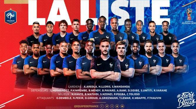 Fransa'dan sürpriz kadro