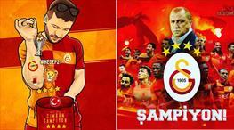 Sosyal medyaya Galatasaray damga vurdu