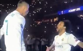 Kutlamalara Ronaldo-Marcelo damgası