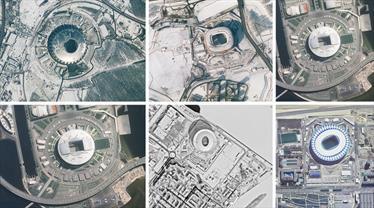 Rusya'daki statları bir de uzaydan görün