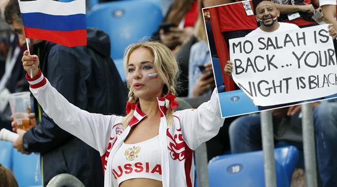 Rusya - Mısır maçından renkli kareler (GALERİ)