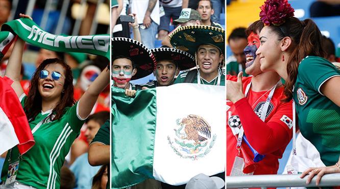 Kore ve Meksika tribünlerinde büyük coşku (GALERİ)