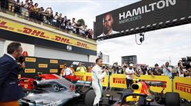 Fransa'da zafer Hamilton'un