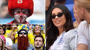 İsveç - İngiltere maçından renkli kareler...