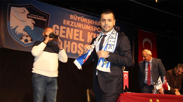 Erzurum'da yeni başkan Hüseyin Üneş