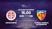 Antalyaspor - İstikbal Mobilya Kayserispor (CANLI)