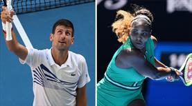 Djokovic ve Serena'dan sürprize izin yok