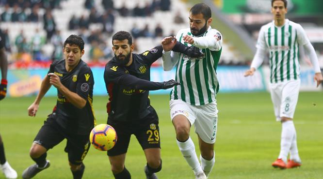 Atiker Konyaspor - Evkur Yeni Malatyaspor: 1-1 (ÖZET)