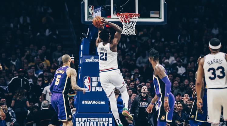 Embiid coştu, LeBronlu Lakers direnemedi!