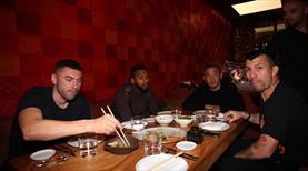 Beşiktaşlı oyuncular yemekte buluştu