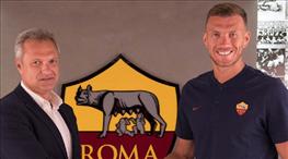Edin Dzeko, Roma'da kaldı