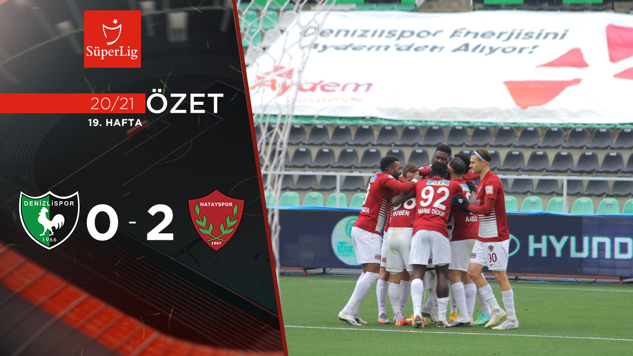 Yukatel Denizlispor Atakaş Hatayspor maç özeti